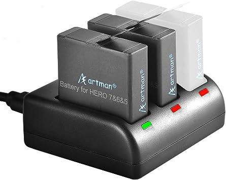 Amazon.com: Artman - Pilas de repuesto para GoPro Hero 5/6/7 ...