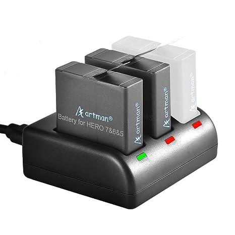Artman GoPro Hero 5/6 - Pilas de repuesto (2 unidades) y ...