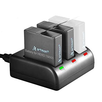Amazon.com: Artman GoPro Hero 5/6/7 1480mah - Pilas de ...