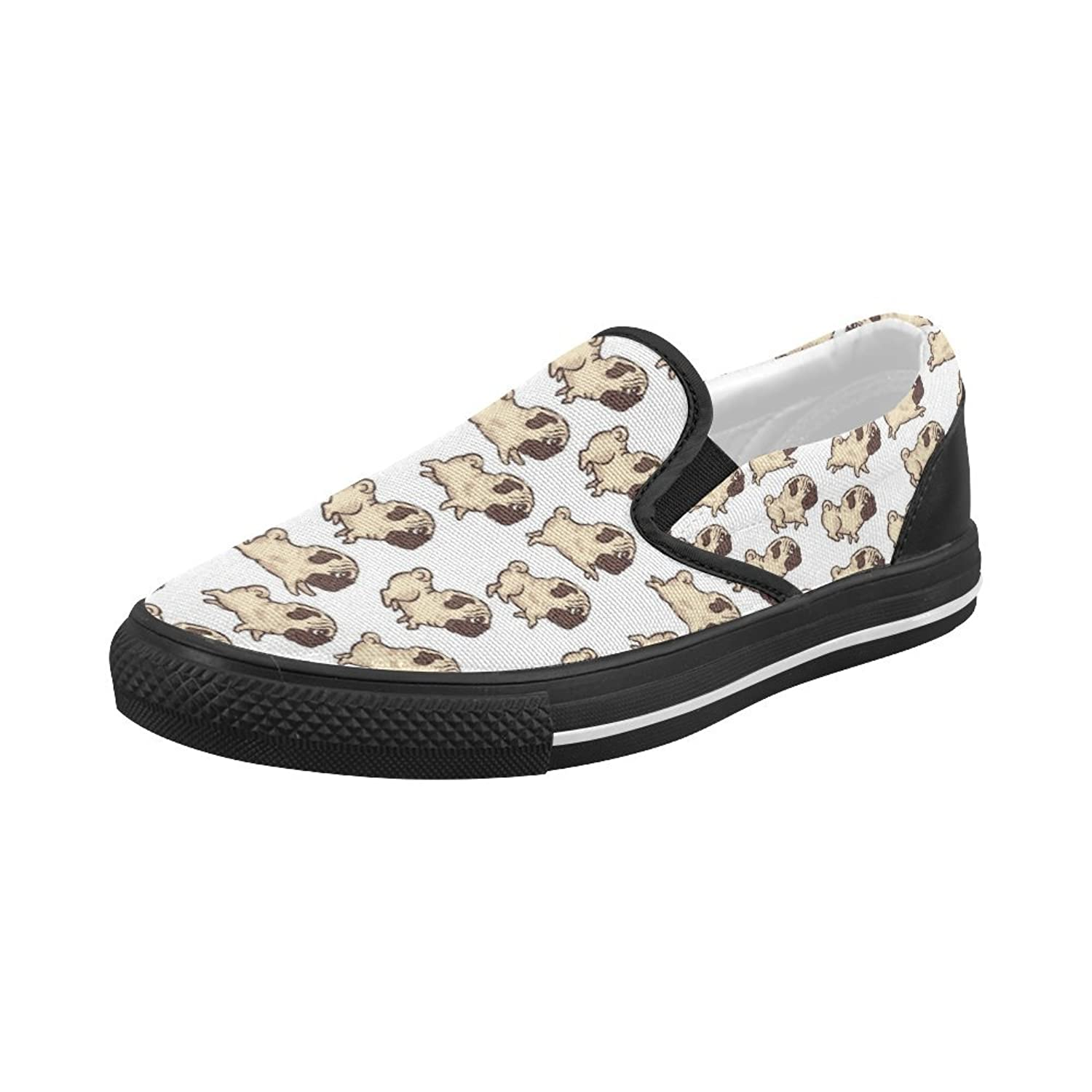 Shoes Run Pugs Slip-on Canvas Loafer For Women