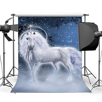 BuEnn 3X5FT Feliz 1er cumpleaños Unicornio Telón Fondo ...