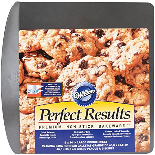 Wilton 2105-6796 Perfect Results Nonstick Air Insulated Cookie Sheet, 16 by 14-Inch