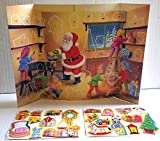 Unique Christmas Advent Calendar with Santa for Kids Children boys girls with Stickers Xmas Perfect Holiday Gift Imported {jg} For mom, dad, sister, brother, grandma, friend, gay