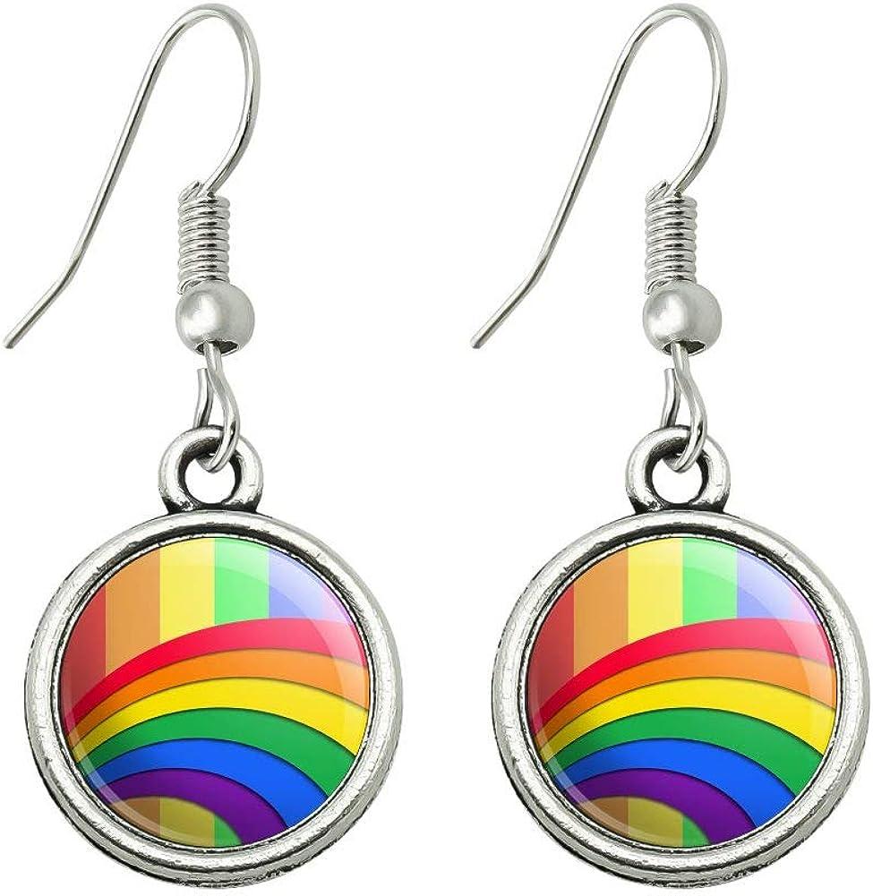 Multicolor earrings Arc earrings Resin earrings Handmade resin earrings