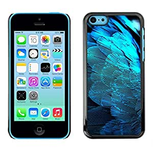 LOVE FOR iPhone 5Cs Feathers Blue Light Angel Wings Spiritual Bird Personalized Design Custom DIY Case Cover