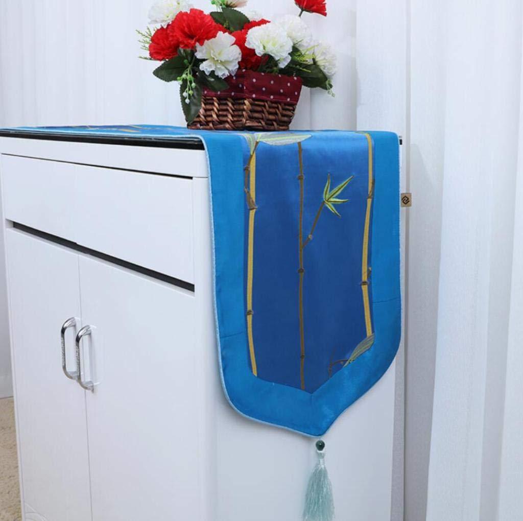 テーブルランナー中国古典的なガーデンスタイルの刺繍13x90インチは、パーティー、ディナー、豪華な装飾、色とサイズに適して選択することができます,D_13*118in 13*118in D B07HDQPVH2
