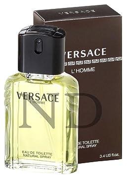 8ffa99ba6 Versace l homme pour homme Parfum de toilette Spray pour lui 100 ml avec sac