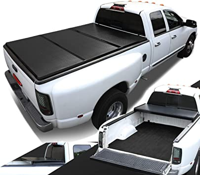 Fits a 99-18 F250 F350 Truck 6.8ft Bed Tonno Pro Tri Fold Tonneau Cover 42-302