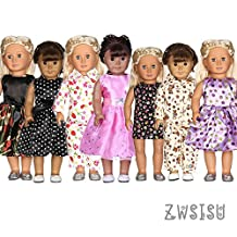 7 Outfits American Girl Doll Clothes Fits American Girl Doll, Our Generation, Journey Girls Dolls by ZWSISU