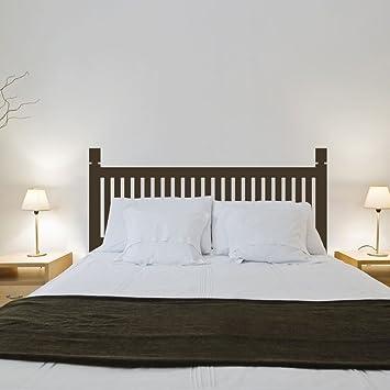 Vinilo adhesivo para pared, diseño de cabecero de madera para decoración de dormitorio, vinilo