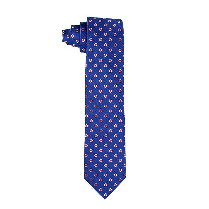 Corbata hombre seda azul topos: Amazon.es: Ropa y accesorios