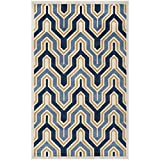 Safavieh Amherst Collection AMT438T Ivory and Gold Indoor/ Outdoor Area Rug (5′ x 8′)