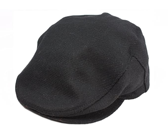 854614fe4af29 John Hanly Men s Irish Flat Cap 100% Wool Black Made in Ireland at ...