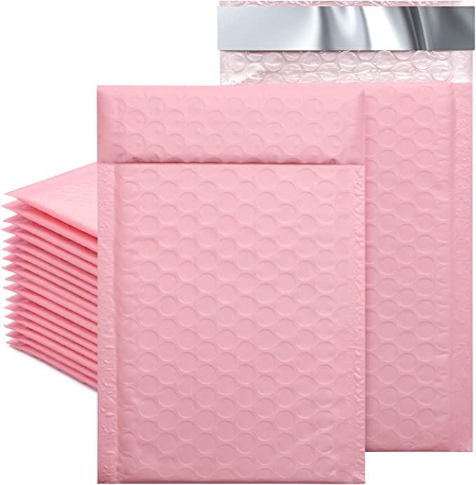 Teal Hologram or Black Padded Colorful Mirrored Self Sealing Rigid Envelope Mailers Gold 60 Pack 4x8 Metallic Bubble Mailers Combo Pink