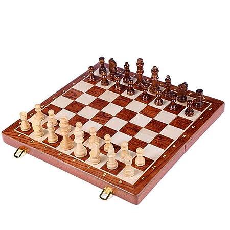 Ajedrez Juego de ajedrez grande plegable de madera de grado ...