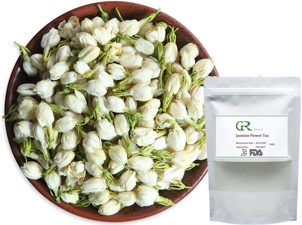 1 x 100 gm Organic Dried Jasmine Flowers Super Fast Delivery