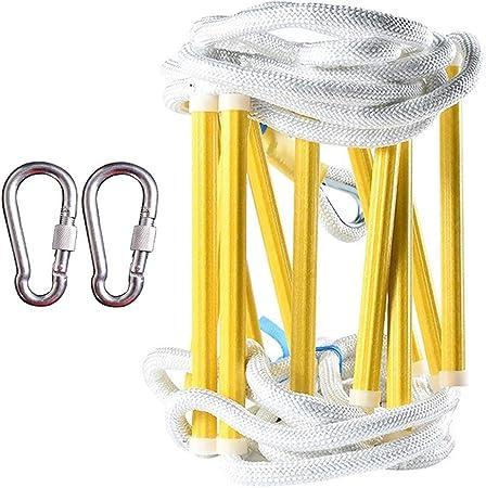 HXPP Escalera De Cuerda Suave Nylon Cuerda Emergencia Resistente Al Fuego Escalera Nailon Suave para Ideal Escalada, Árbol, Casa contra Incendios (Color : 5m (16ft)): Amazon.es: Hogar