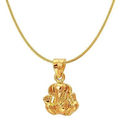 Buy mahi exa collection ganesh gold plated religious god pendant mahi exa collection ganesh gold plated religious god pendant with chain for men women ps6012012g aloadofball Choice Image