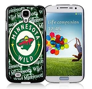 High Quality S4 Case,Minnesota Wild Black Samsung Galaxy S4 I9500 Screen Phone Case Beautiful and Charming Design