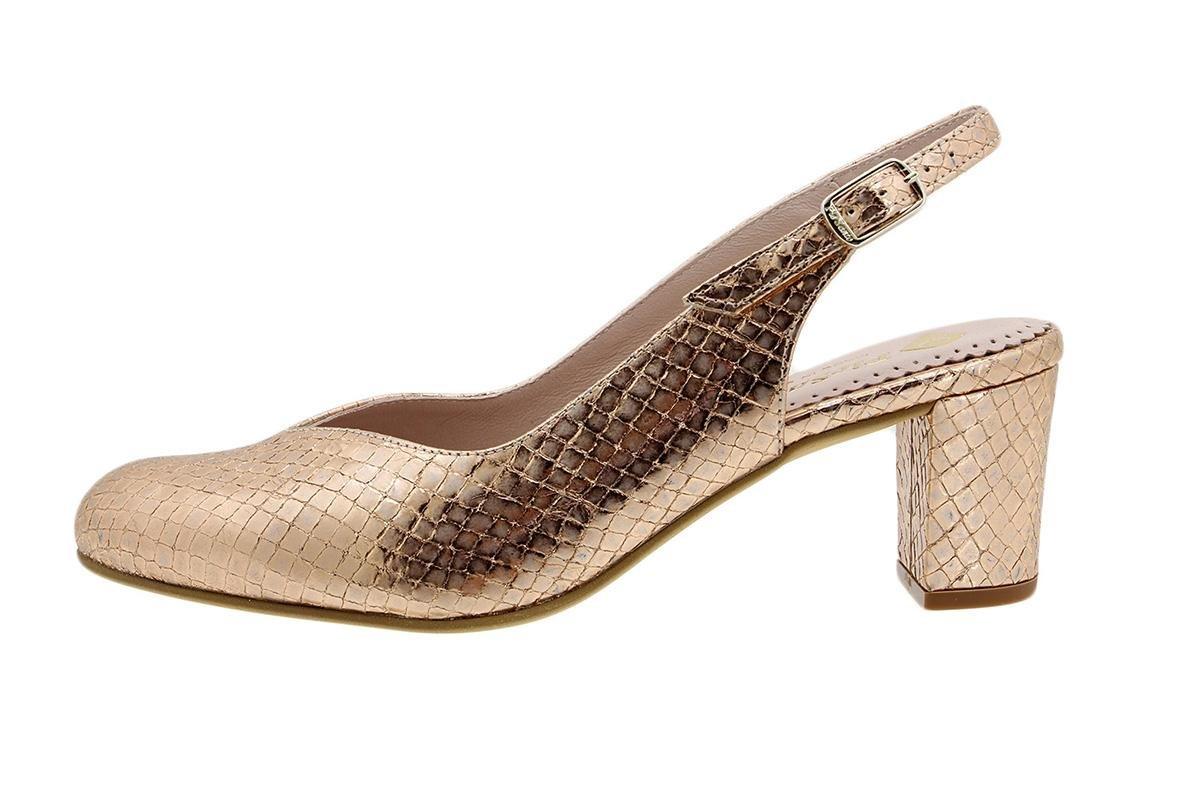 PieSanto Salón Grabado Nude 180229 Zapato Confort 38 EU|Serpiente Nude