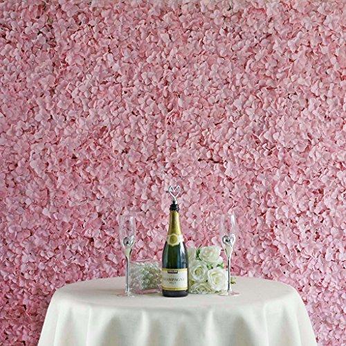 Efavormart 4 PCS Rose Quart Pink UV Protected Silk Hydrangea Flower Mat Wall Backdrop Photography Panel Photo Booth Wedding Event (Backdrop Wall)