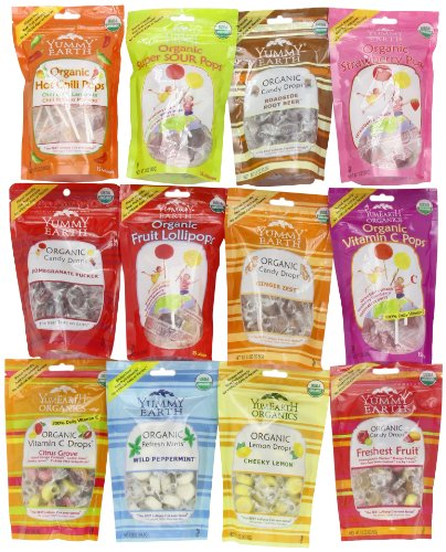 YumEarth Organic Pops and Drops Sampler, 12 Count-38 oz. (Organic Chocolate Candy compare prices)