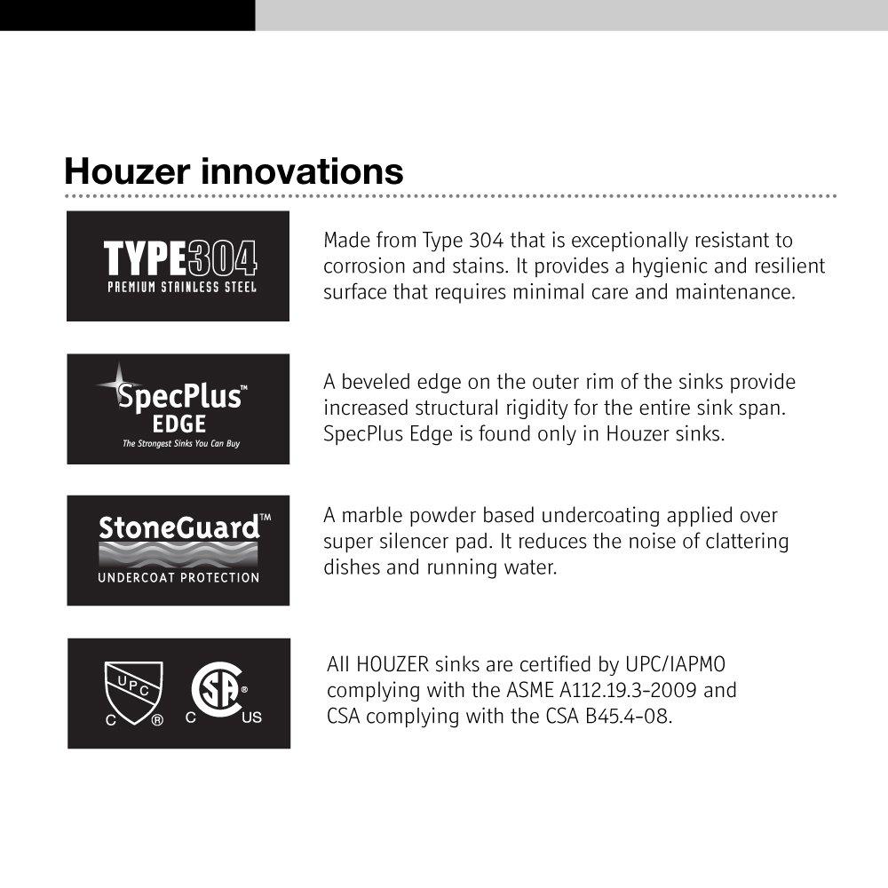Houzer CF 1830 1 Club Series Undermount Round Bar/Prep Sink     Amazon.com