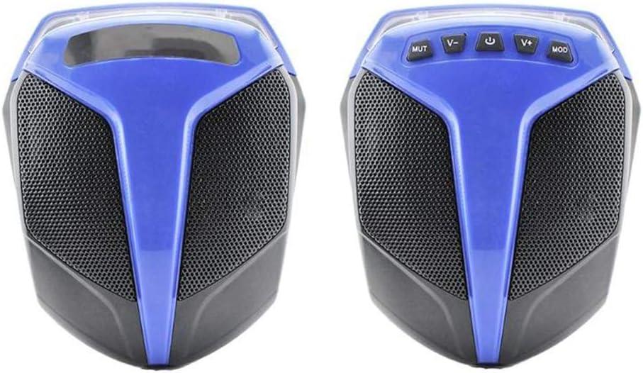 QLPP Motocicleta Audio Bluetooth Altavoz Subwoofer Soporte Tarjeta TF USB Bluetooth Radio FM Música MP3 Reproductor de Audio para vehículo eléctrico Triciclo