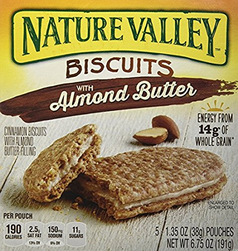 Nature Valley Biscuits with Almond Butter 6.75 oz. (Pack of 2)