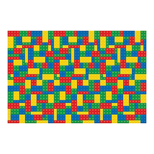 Fun Express Color Brick Party Backdrop Banner (9 ft. x 6 ft.) Plastic