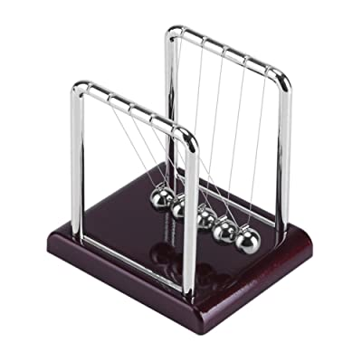 Newton's Cradle with Balance Swinging Magnetic Balls Funny Pendulum Steel Ball Desk Toy Office Desk Decoration: Home Improvement
