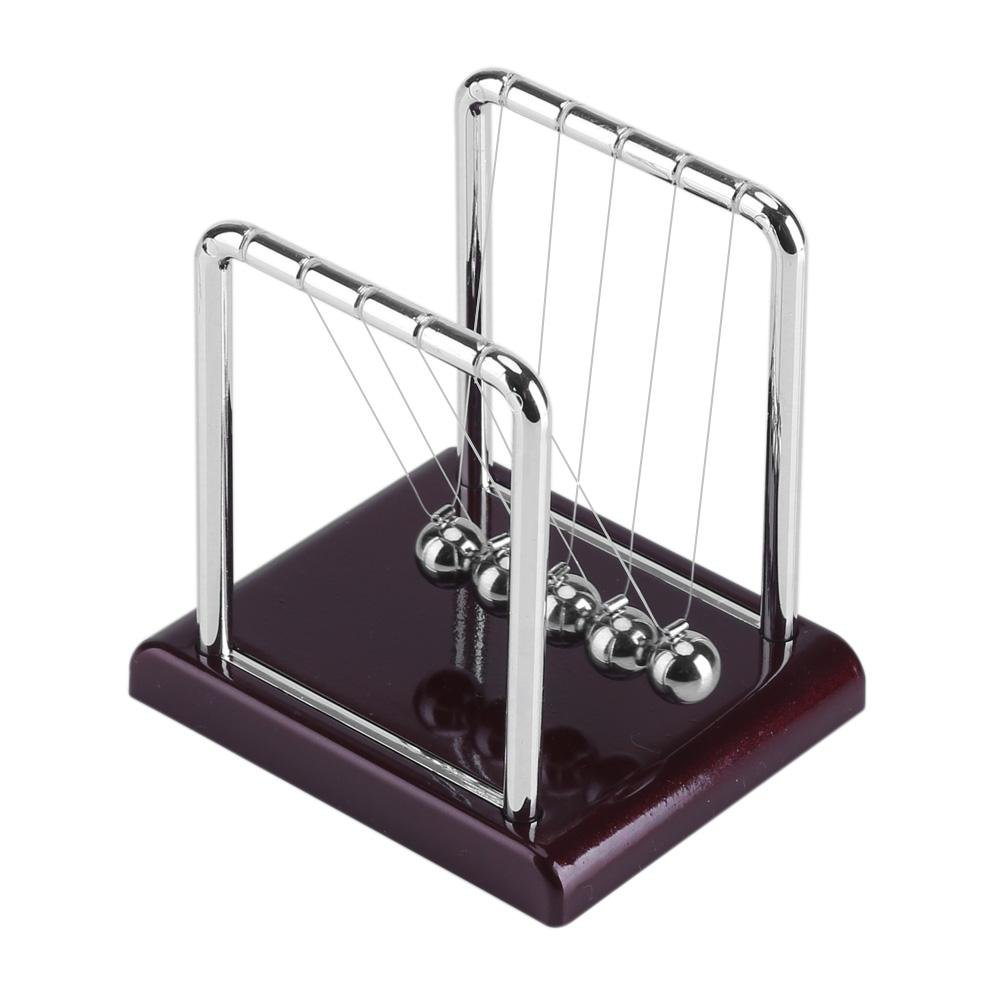Cradle Balls Steel Balance Swinging Magnetic Ball Cradle Physics Science Pendulum Desk Pendulum Metal Balls for Adults Stress Relief,Table Decoration Fun Toy Gift