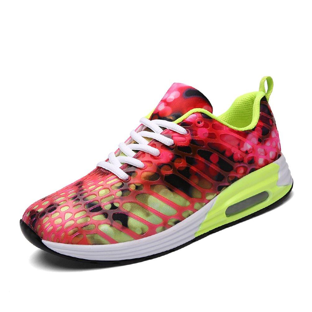 Dannto Herren Damen Sneakers Bequeme Freizeit Schnuuml;rer Profilsohle Laufschuhe Sportschuhe Turnschuhe  42 EU|rot-B