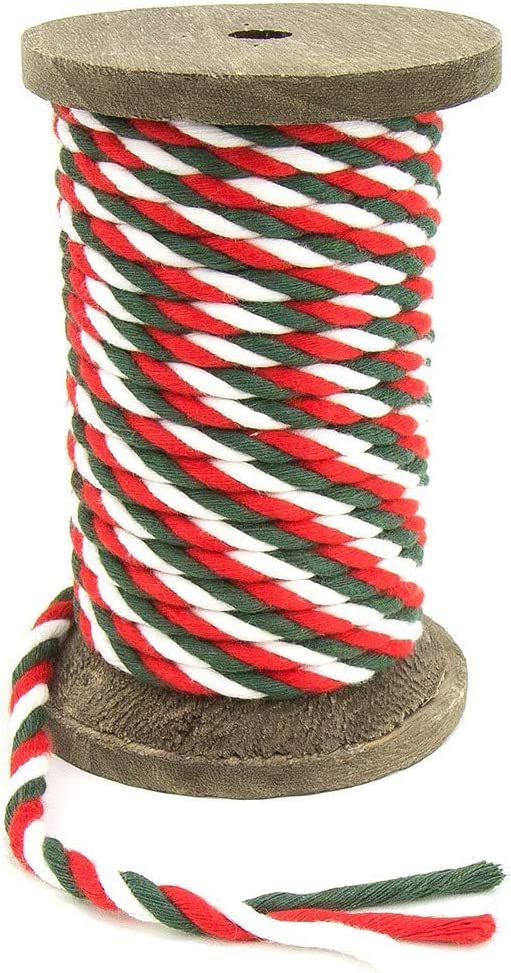Crafts Pet Toys Christmas Ravenox Natural Twisted Cotton Rope | | Made in The USA 1//2 inch x 100 Feet D/écor Macram/é /& Indoor Outdoor Use Strong Triple-Strand Rope for Sports