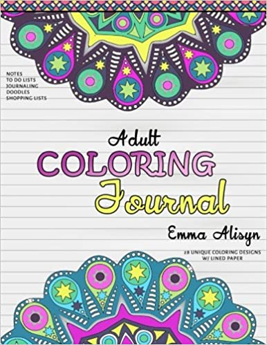 Amazon.com: Adult Coloring Journal: Lined Paper and Mandalas for ...