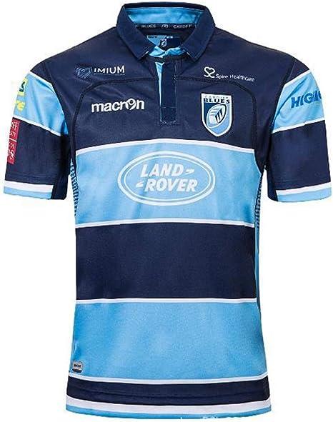 Camisetas de rugby para hombre,Rugby Jersey, Nueva Zelanda Bruce camisetas de la camisa casera del atleta, transpirable de rugby, los hombres de verano de fútbol de manga corta, camiseta Vestimenta,Azul,M: Amazon.es: Deportes