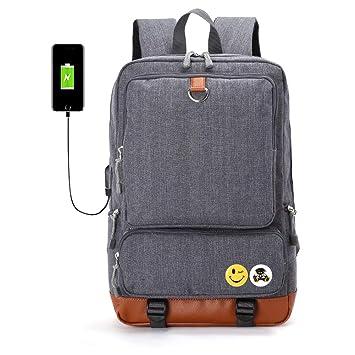 Imzoeyff Multifunción USB Carga Externa Hombres Mochilas Adolescentes Mochilas Escolares Mochila De Viaje para Hombre Mochila para Portátil Mochila ...
