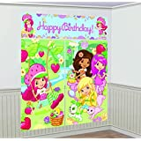 """Amscan Delightful Strawberry Shortcake Birthday Party Scene Setters Decoration (5 Pack), 59"""" x 65"""", Green/Pink"""