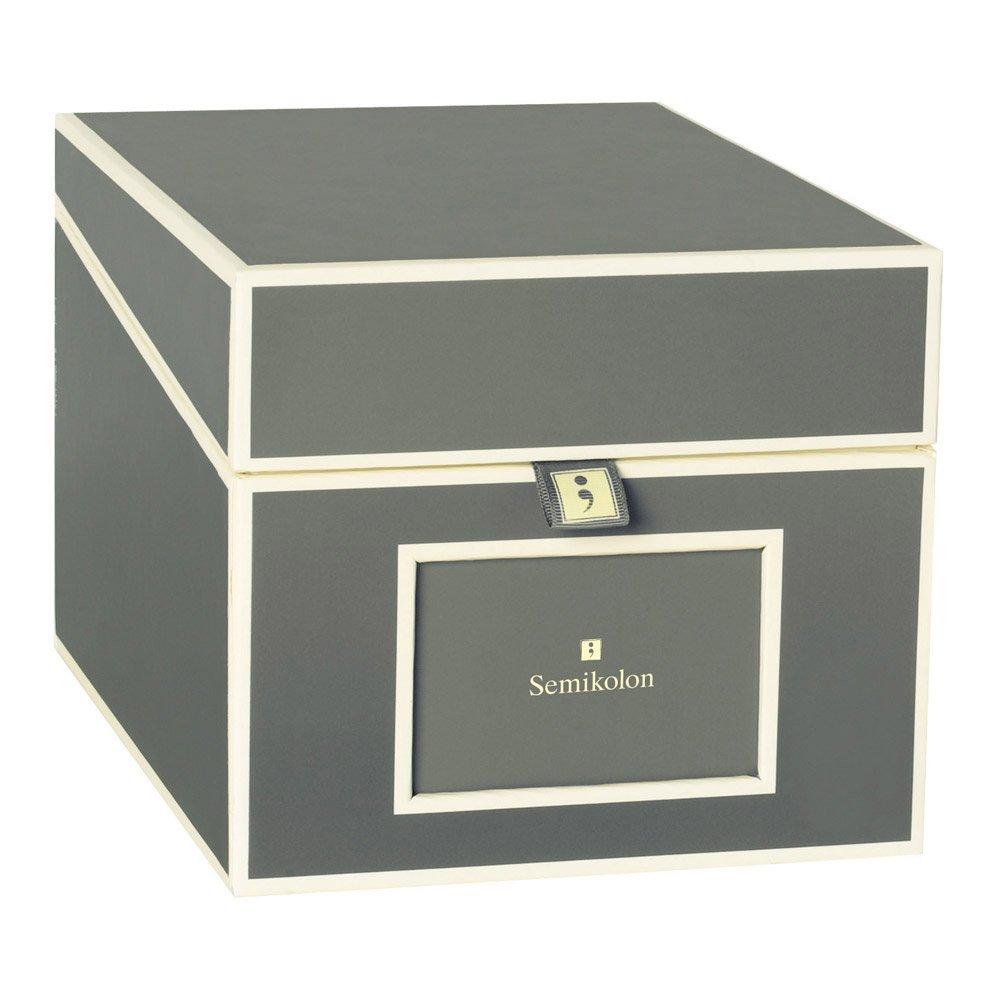 Semikolon Multimedia CD/DVD/Photo Storage Box, Grey (31815)
