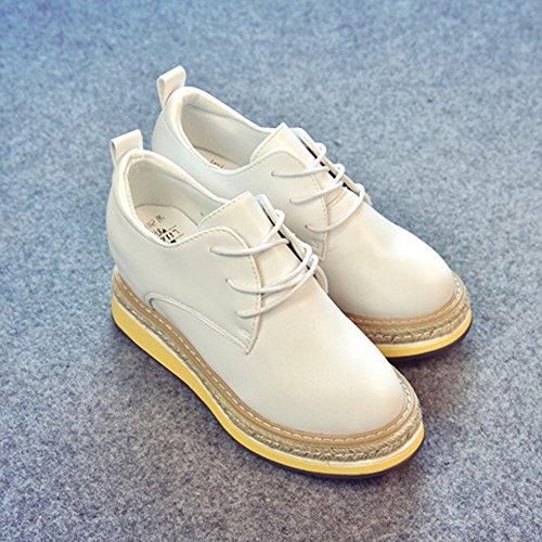 Hoxekle Donna Moda Sneaker Traspirante Scarpe Stringate Superiori Casual