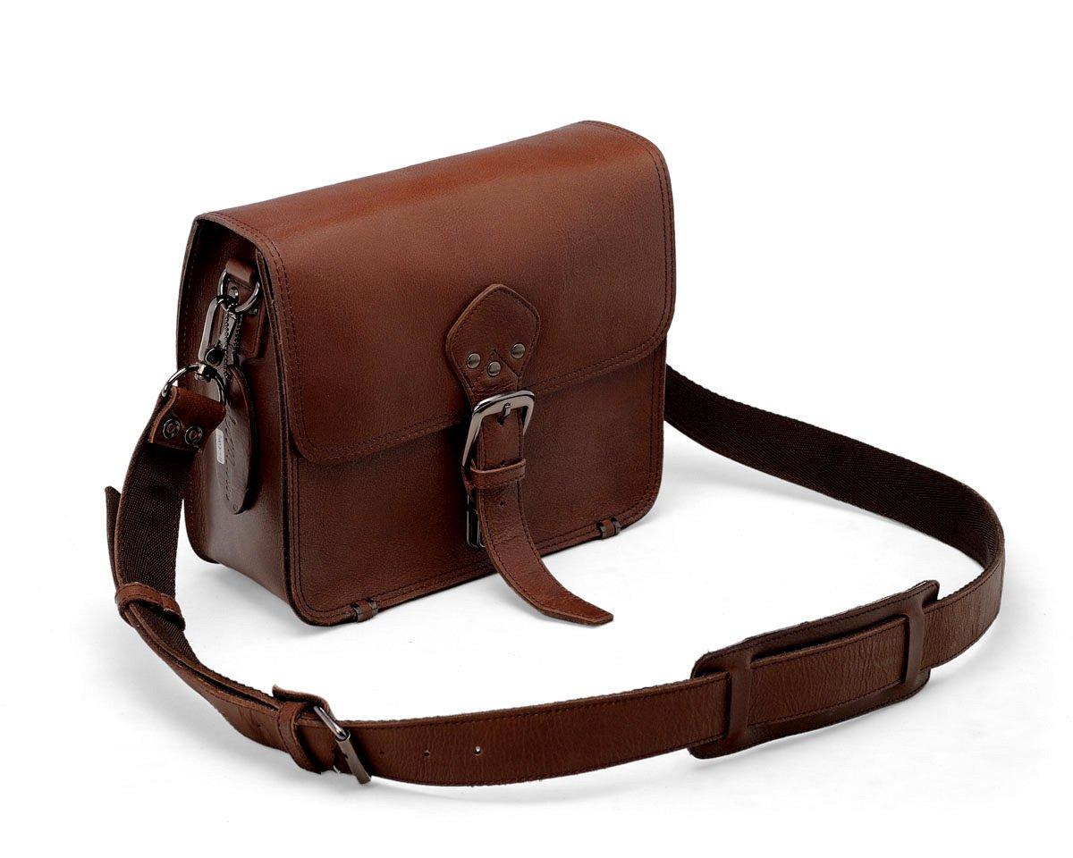 LederMann Brown Leather Sling Bag / Travel Messenger Pouch