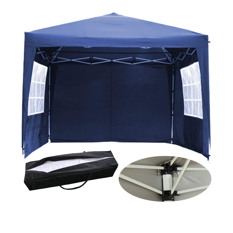 Amazon.de: Wasserdicht Pavillon in Blau 3 m Pop up Stahl Metall ...