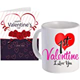 SKYTRENDS Ceramic Coffee Mug and Greeting Card Combo (Multicolour, 1 Cup)