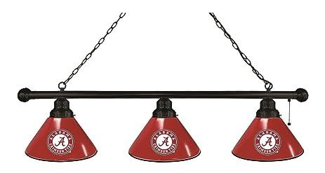 Alabama Crimson Tide HBS U0026quot;Au0026quot; Black Red 3 Bulb Hanging Pool  Billiard Table