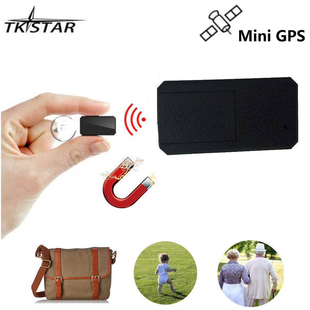 TKstar Strong Magnet Mini GPS Tracker,Portable Anti-thieft Real Time Tracking Device Anti-Lost GPS Locator for Kids /Senior /Person Travel TK901
