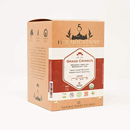 Cinco Montañas Grand Carmesí, 15 biodegradables bolsas de té ...