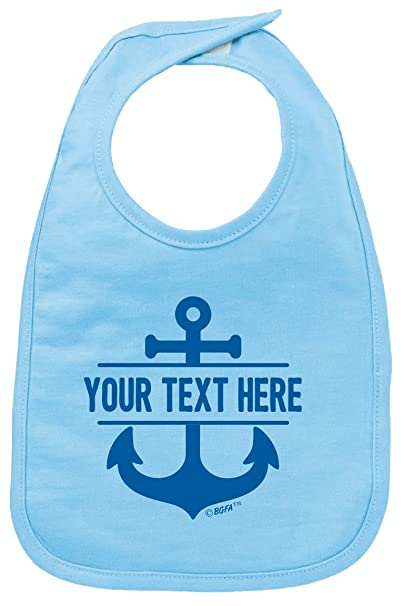 Amazon.com Personalized Baby Bibs for Girls Personalized Baby Name Nautical Anchor Baby Bib Light Blue Clothing  sc 1 st  Amazon.com & Amazon.com: Personalized Baby Bibs for Girls Personalized Baby Name ...