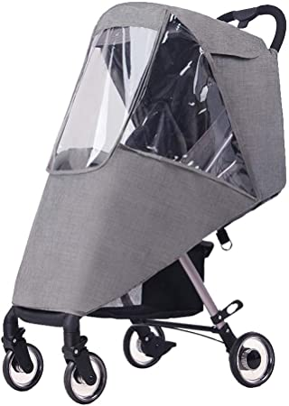 Universal Stroller Canopy Extender Anti-UV Universal Baby Stroller Rain Cover with Storage Pouch for Baby Carriage Infant Cart Sun Shade Removable Awning