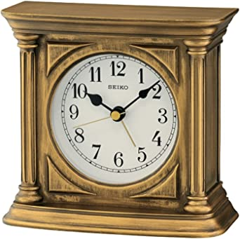 Seiko Stand Relojes Reloj De Mesa analógico Unisex de Oro qxe051g ...