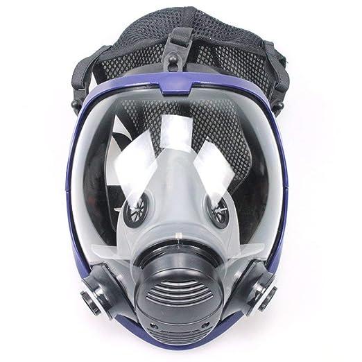 Ligero máscara facial de cara completa Máscara antigás Respirador de polvo ácido Pintura de plaguicida Filtro de silicona Máscara facial: Amazon.es: ...